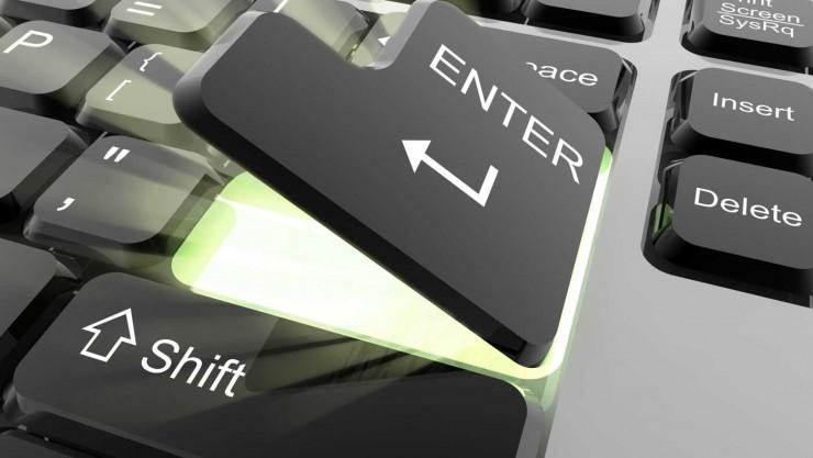 the web design company logo keyboard