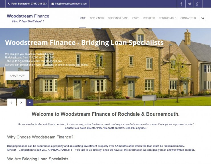 the web design company woodstream finance