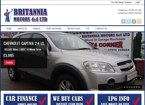the web design company Britannia