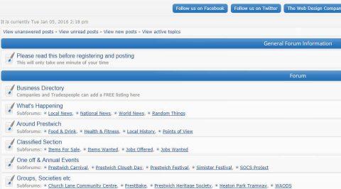 the web design company Prestwich Forum