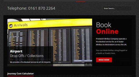 the web design company Prestwich Minibus