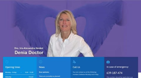 the web design company Denia Doctor