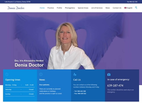 the web design company Denia Doctor