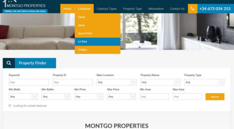 the web design company Montgo-Properties